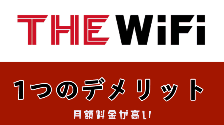 THEWIFI1つのデメリット